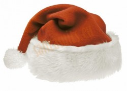 brown Santa's hat