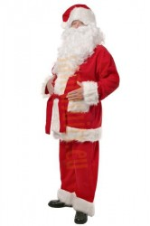 Santa suit with long fur - jacket, trousers, hat