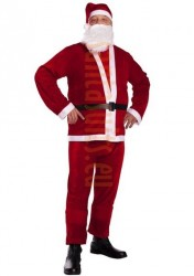 Thin plush Santa suit – 5 parts - wholesale