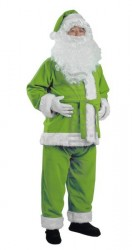 Light olive green Santa suit - jacket, trousers and hat