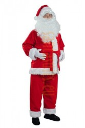Santa suit made of fleece - jacket, trousers and hat