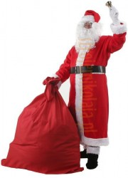 Santa suit with coat - bell, gloves
