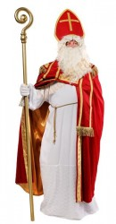 traditional Santa-bishop suit, the true Santa suit with coat and pastoral staff