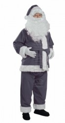 grey Santa suit - jacket, trousers and hat