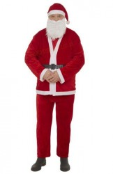 Thin plush Santa suit – 5 parts