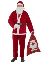 Thin plush Santa suit – 7 parts