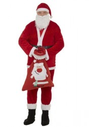 Thin plush Santa suit – 8 parts