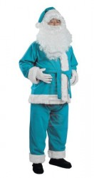 turquoise Santa suit - jacket, trousers and hat
