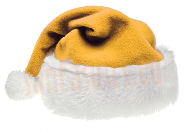 Yellow Santa suit - jacket, trousers and hat