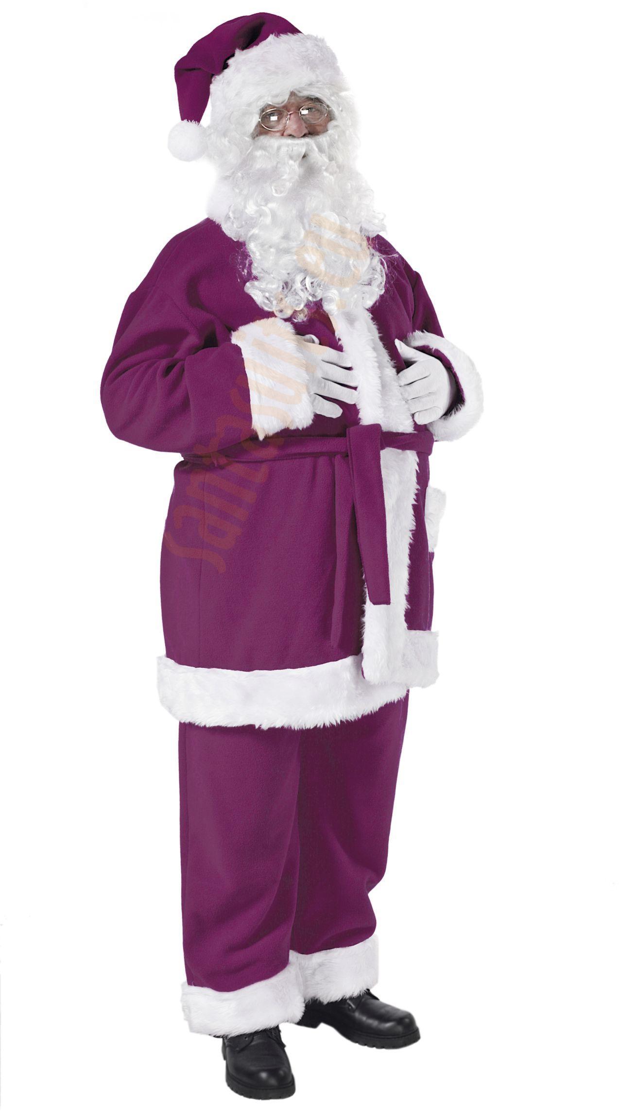 Purple Santa Suit   Jacket, Trousers And Hat