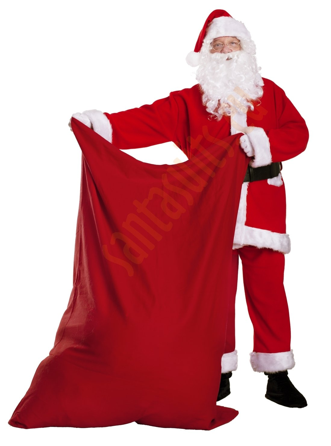 santa suit with jacket and sack big red sack for presents - Santa Claus Red