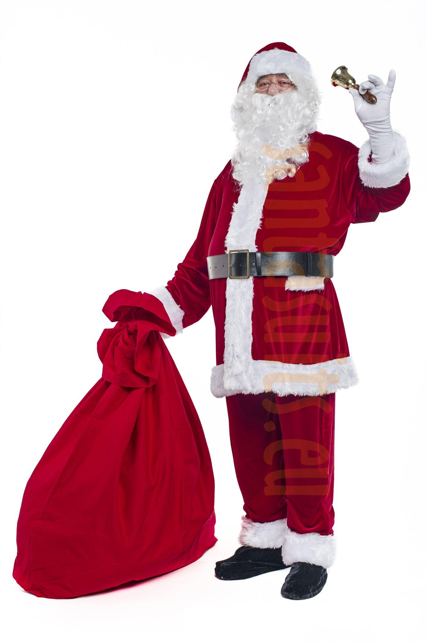 f4a0e06d0a2aa Velour Santa suit with jacket - full set (13 parts plus 4 ...